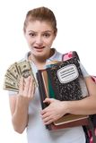Education cost serious problem for girl student Royalty Free Stock Images