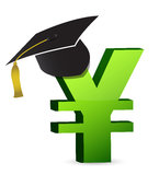 Education cost in yen's. Illustration design over a white background Royalty Free Stock Image