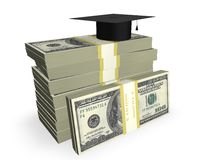 Education Costs. Concept in 3D Stock Image