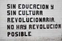 Without education and culture, no revolution is possible Royalty Free Stock Image