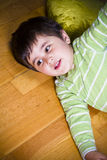 Education, cute little boy playing with blocks Royalty Free Stock Photography