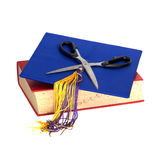 Education Cuts - Scissors on top Stock Images