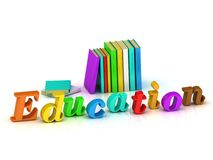 Education 3d inscription bright volume letter Royalty Free Stock Photo