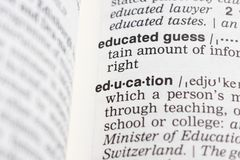 Education definition Stock Photo