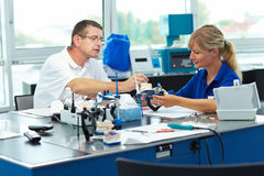 Education for dental technicians Stock Photography