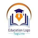 Education department logo. This is the education department logo royalty free illustration