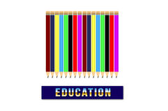 Education. This is design  for education Royalty Free Stock Images