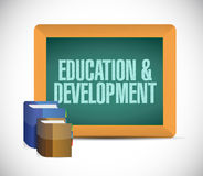 Education and development message on board Royalty Free Stock Images