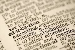Education in dictionary. Stock Photography