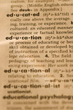 Education in dictionary Royalty Free Stock Image