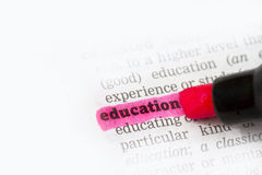 Education Dictionary Definition Royalty Free Stock Image
