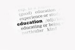Education  Dictionary Definition Stock Photography