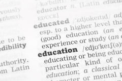Education  Dictionary Definition Royalty Free Stock Photography