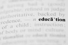 Education Dictionary Entry Royalty Free Stock Photos