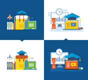 Education, distance learning, planning, communication, training videos, back to school. Royalty Free Stock Photography