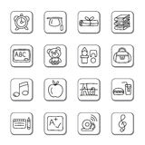 Education Doodle Icons Royalty Free Stock Photos