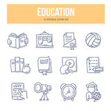Education Doodle Icons Stock Images