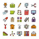 Education Doodle Icons Pack stock illustration