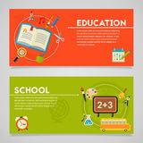 Education and E-learning Concept Banners Royalty Free Stock Image