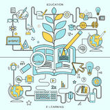 Education and e-learning concepts Royalty Free Stock Images