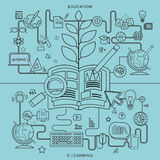 Education and e-learning concepts Royalty Free Stock Photo
