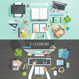 Education and e-learning concepts. Royalty Free Stock Photos