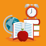 Education easy learning flat icons Stock Image