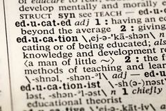 Education educate learn dictionary definition. Book stock images