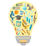 Education effective training light bulb Royalty Free Stock Images