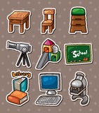 Education element stickers Royalty Free Stock Photos