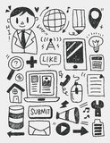 Education elements doodles hand drawn line icon,eps10 Stock Images