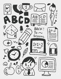 Education elements doodles hand drawn line icon,eps10 Royalty Free Stock Photos