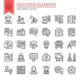 Education Elements stock illustration