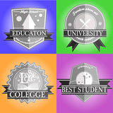 Education emblem Royalty Free Stock Photos