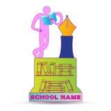 Education emblem Stock Photo