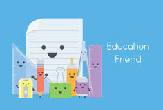 Education equipment is education friend in school Royalty Free Stock Image