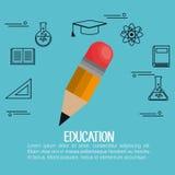 Education equipment flat icons Royalty Free Stock Photo