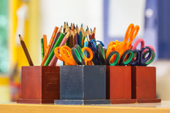 Education Equipment In A Classroom Stock Image