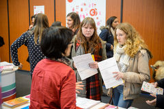 Education Fair to choose career path and vocational counseling Royalty Free Stock Image