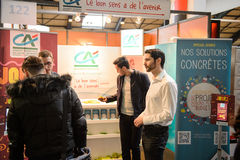 Education Fair to choose career path and vocational counseling Stock Image