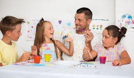 Education and family concept Royalty Free Stock Photos