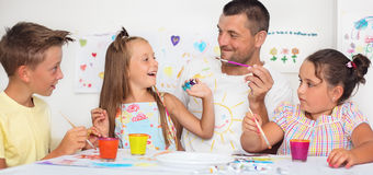 Education and family concept stock images