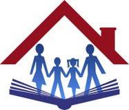 Education family logo. Illustration art of a education family logo with isolated background Stock Photography