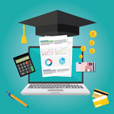 Education finance flat design concept. Illustration Royalty Free Stock Photo
