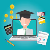 Education finance flat design concept. Illustration Stock Images