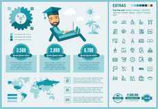 Education flat design Infographic Template Stock Images