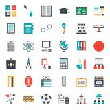 Education. Flat icon, subject and equipment, isolated on white background vector illustration