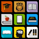 Education flat icons Stock Photography