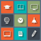 Education Flat icons Royalty Free Stock Images