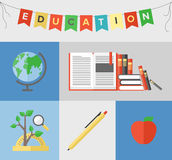 Education flat illustration concept Royalty Free Stock Photo